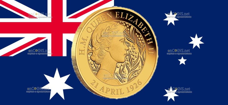 Австралия 25 доллара к 95-летию со дня рождения королевы Елизаветы II