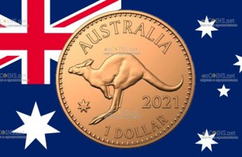 Австралия монет 1 доллар Кенгуру