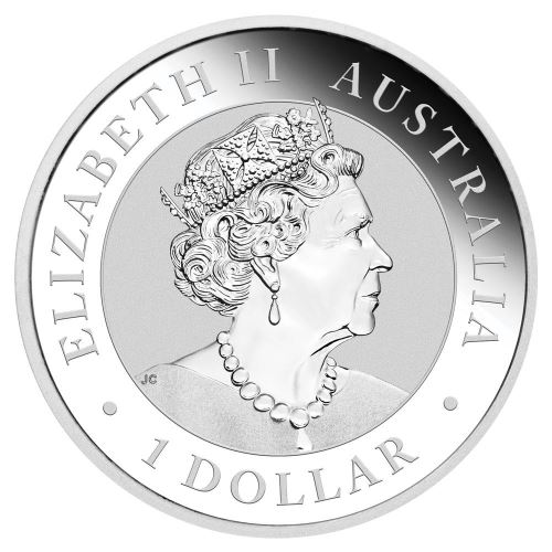 Австралия монета 1 доллар Птица Эму, аверс