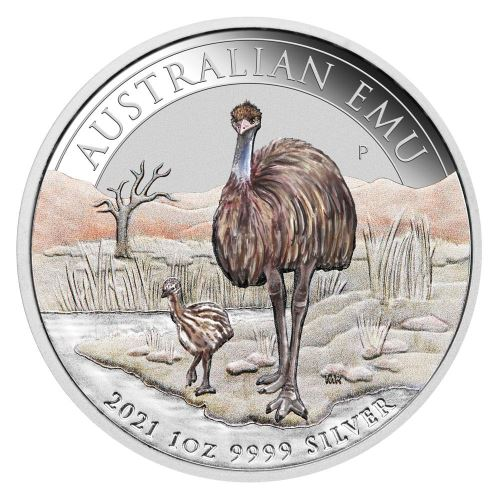 Австралия монета 1 доллар Птица Эму, реверс