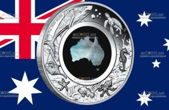 Австралия монета 1 доллар Великая южная земля