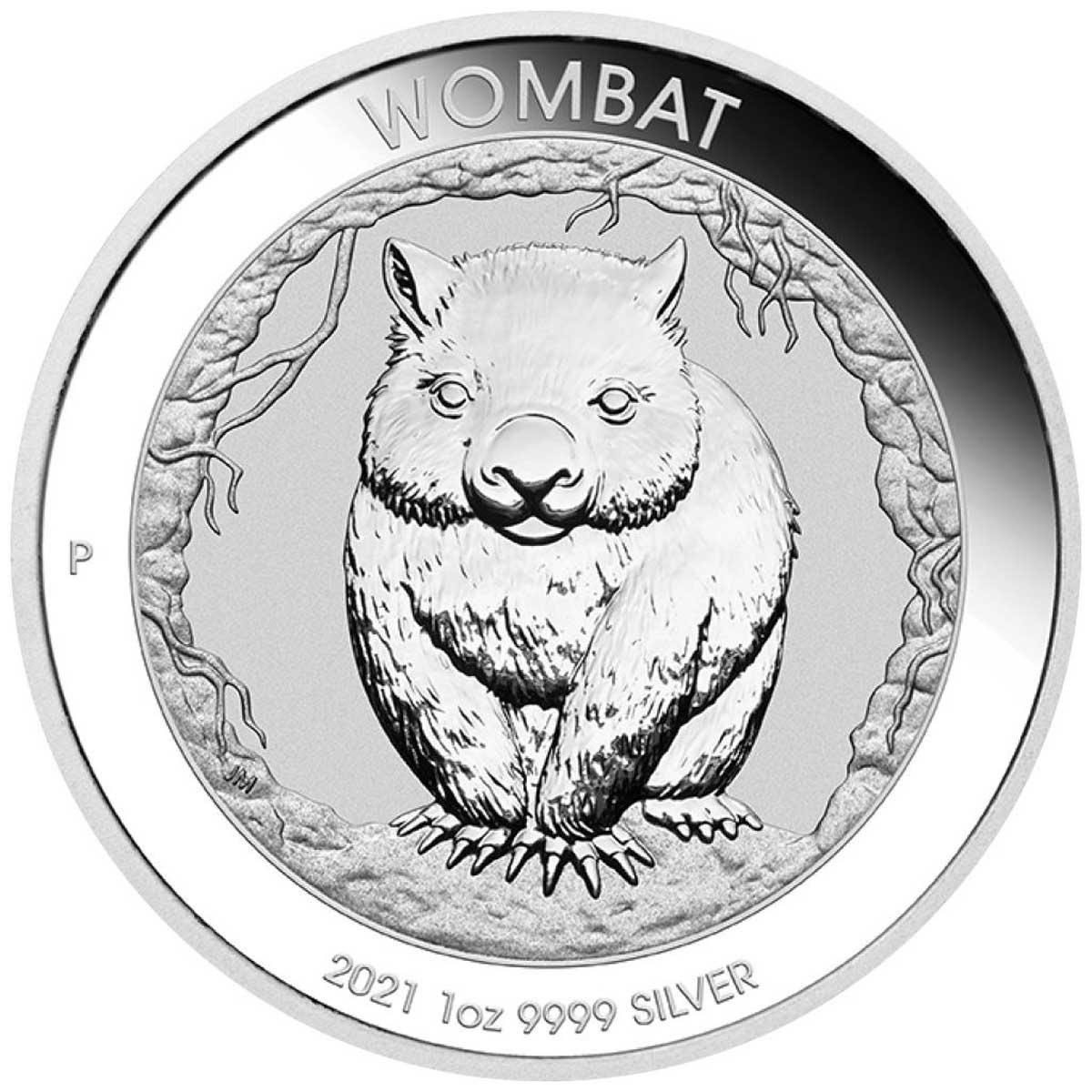 Австралия монета 1 доллар Вомбат, реверс