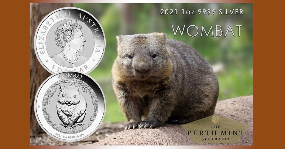 Австралия монета 1 доллар Вомбат