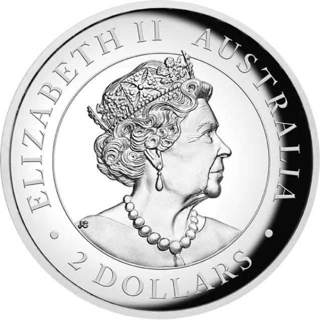 Австралия монета 2 доллара Австралийский Брамби, аверс