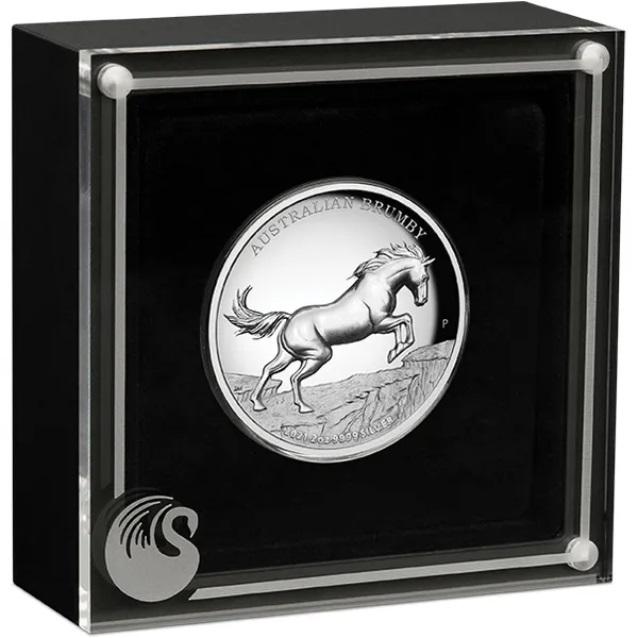 Австралия монета 2 доллара Австралийский Брамби, подарочная упаковка