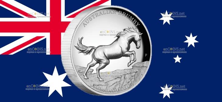 Австралия монета 2 доллара Австралийский Брамби