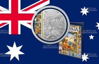 Австралия монета 20 центов Animalia
