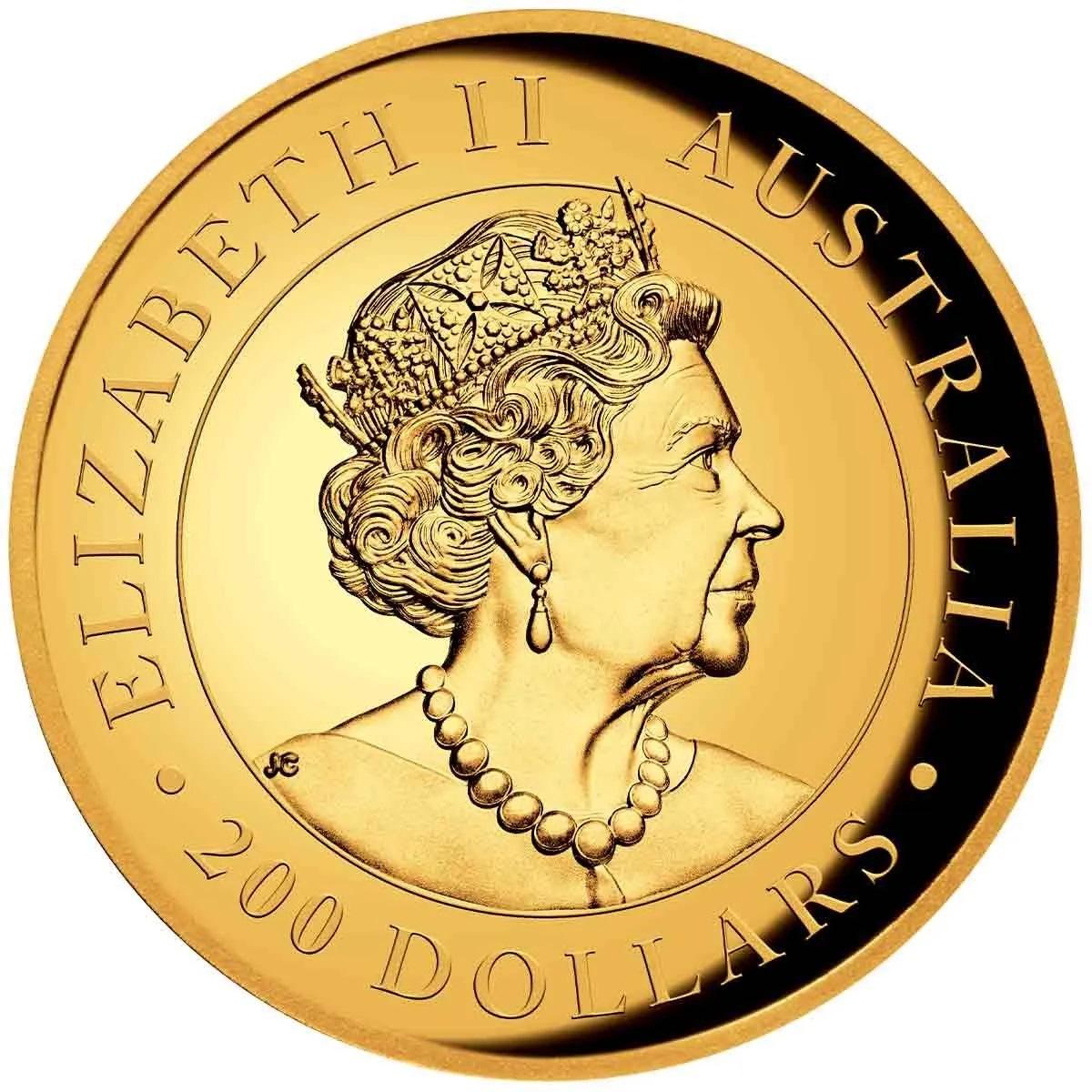 Австралия монета 200 долларов Австралийский Кенгуру, аверс