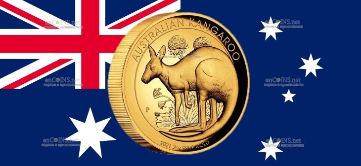 Австралия монета 200 долларов Австралийский Кенгуру