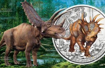 Австрия монета 3 евро Стиракозавр