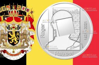 Бельгия монета 20 евро Роджер Равил