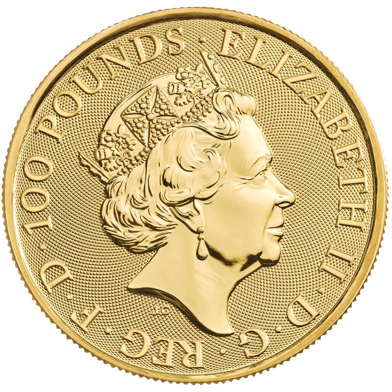Британия монет 100 фунта Дева Мэриан, аверс