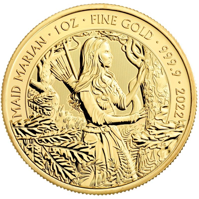 Британия монет 100 фунта Дева Мэриан, реверс