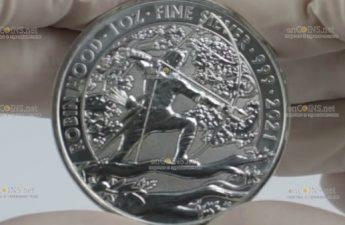 Британия монет 2 фунта Робин Гуд