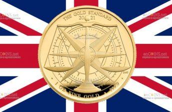 Британия монета 100 фунтов Золотой Стандарт