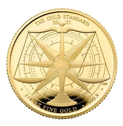 Британия монета 25 фунтов Золотой Стандарт, реверс