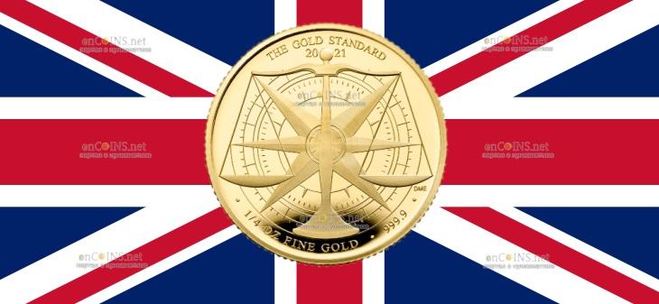 Британия монета 25 фунтов Золотой Стандарт