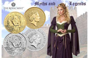 Британия серия монет Дева Мэриан