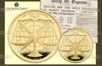 Британия выпускает серию монет Золотой стандарт 1821 года