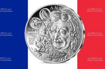 Франция монета 10 евро Жан де Лафонтен
