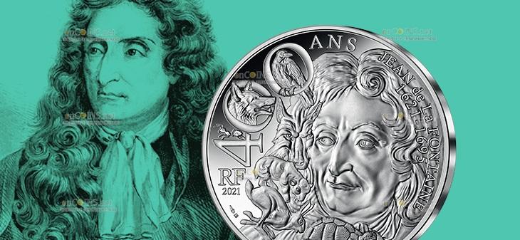 Франция монета 100 евро Жан де Лафонтен