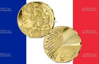 Франция монетау 5 евро Жан де Лафонтен