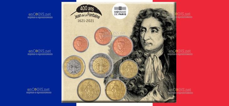 Франция выпустила в обращение монетный набор 2021 года - Жан де Лафонтен