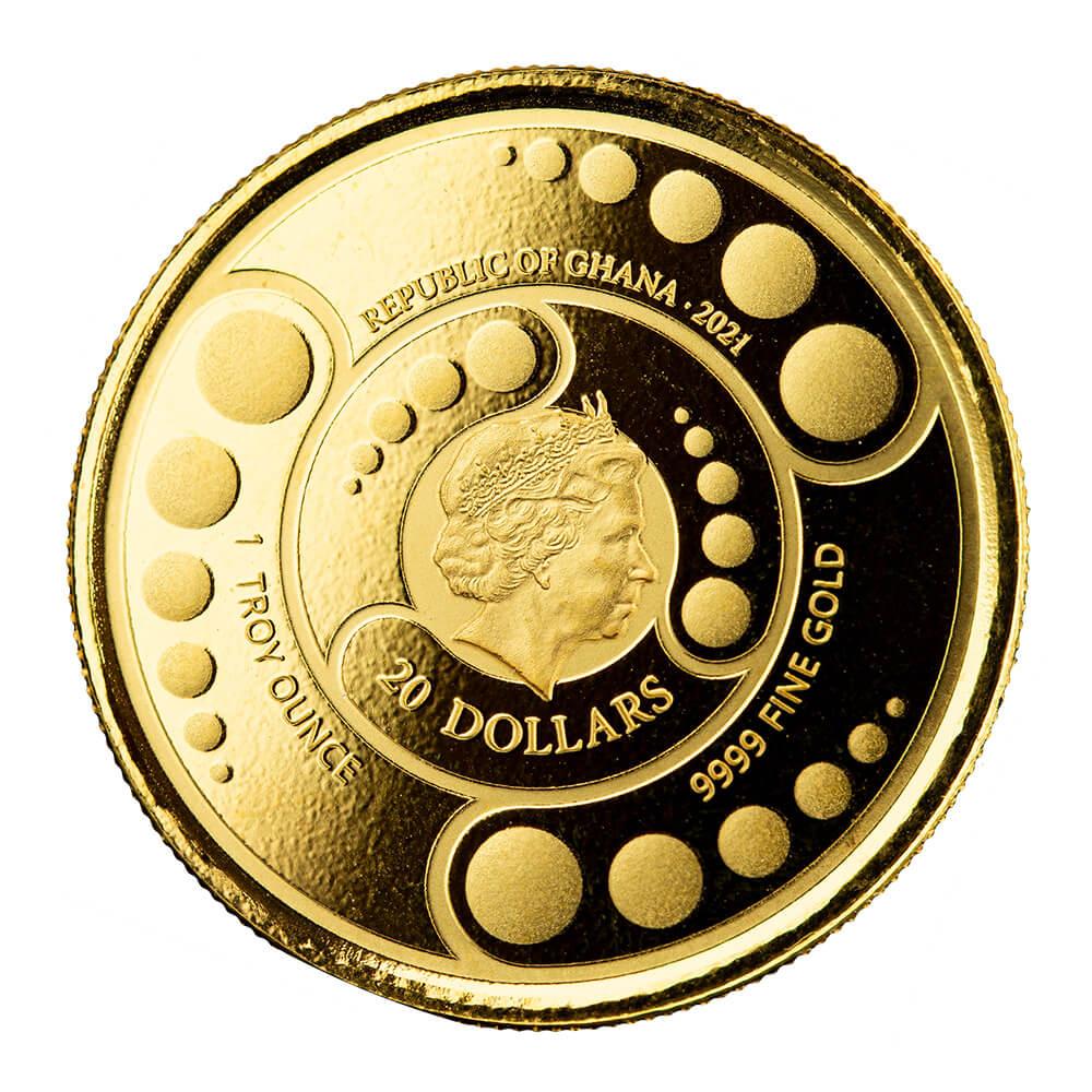 Гана монета 20 седи Инопланетянин, аверс