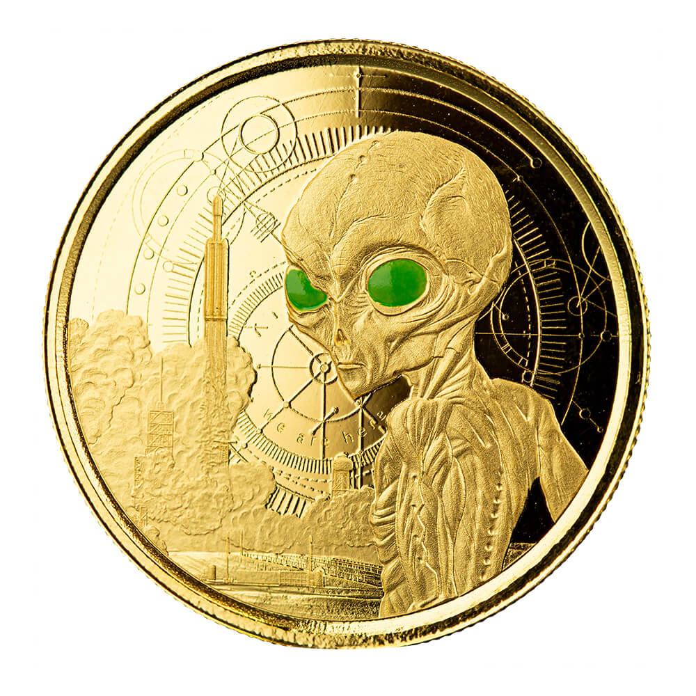 Гана монета 20 седи Инопланетянин, реверс