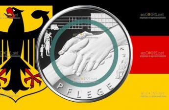 Германия монета 10 евро Забота
