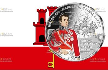 Гибралтар монета 50 пенсов Артур Уэлсли