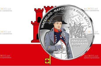 Гибралтар монета 50 пенсов Наполеон