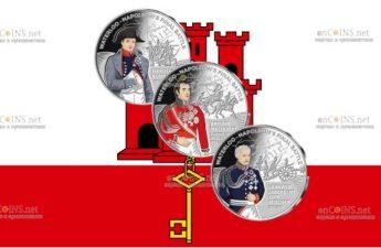 Гибралтар выпустил серию монет 50 пенсов Наполеон - битва при Ватерлоо 2021