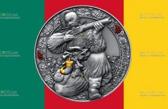 Камерун монета 3000 франков Запорожец