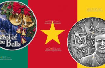 Камерун монета 500 франков Новогодняя песня Леонтовича