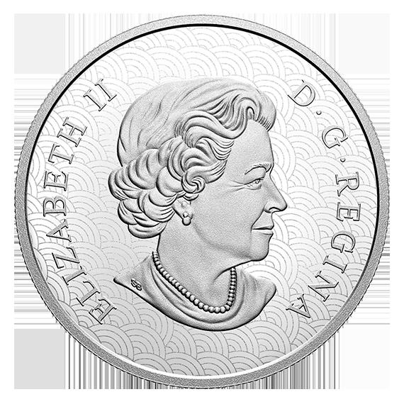Канада монета 15 долларов Год Лунного Тигра, аверс