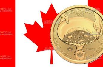 Канада монета 200 долларов Золотая лихорадка Клондайк