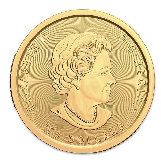 Канада монета 200 долларов Золотая лихорадка Клондайк, аверс