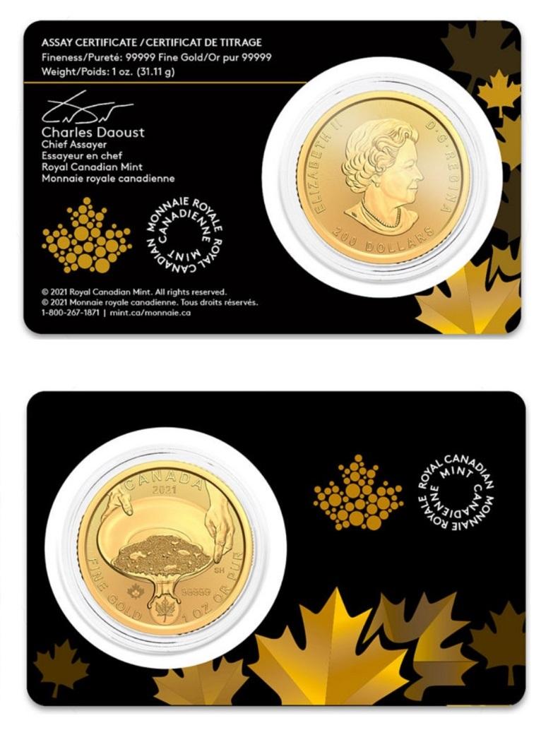 Канада монета 200 долларов Золотая лихорадка Клондайк, подарочная упаковка