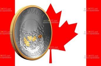 Канада монета 25 долларов Золотая лихорадка Клондайк