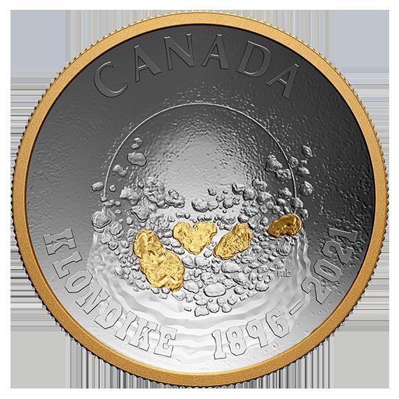 Канада монета 25 долларов Золотая лихорадка Клондайк, аверс