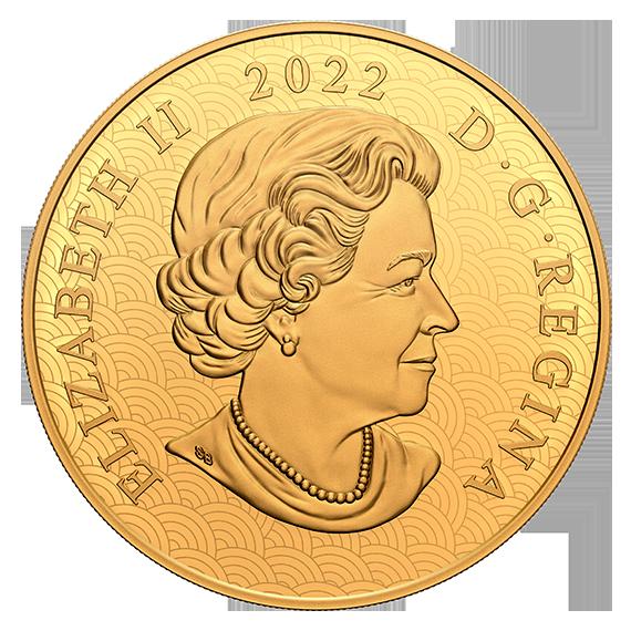 Канада монета 2500 долларов Год Лунного Тигра, аверс
