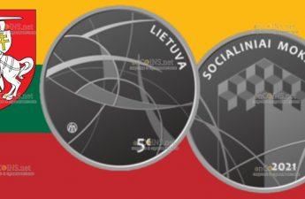 Литвае монета 5 евро Общественные науки