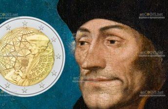монета 2 евро 35 лет программе Erasmus