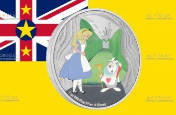 Ниуэ монета 2 доллара Белый Кролик