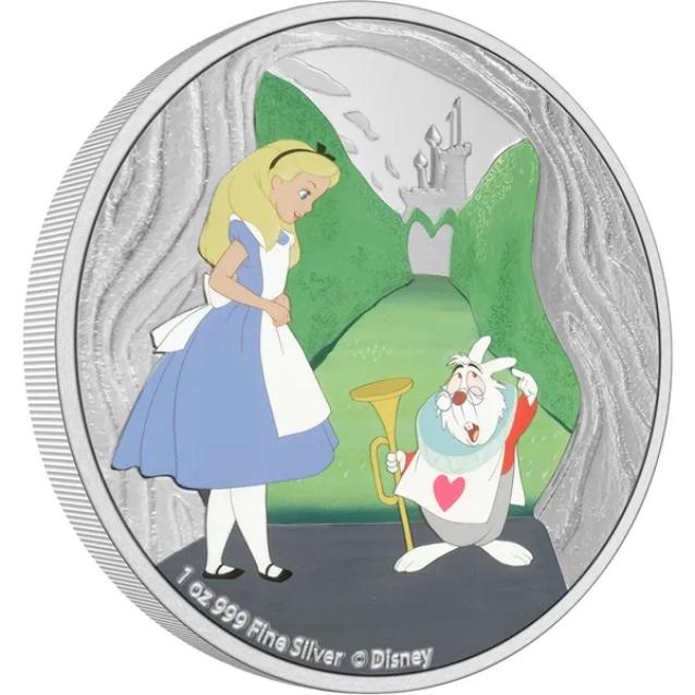 Ниуэ монета 2 доллара Белый Кролик, реверс