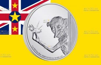 Ниуэ монета 2 доллара Добби Домашний Эльф