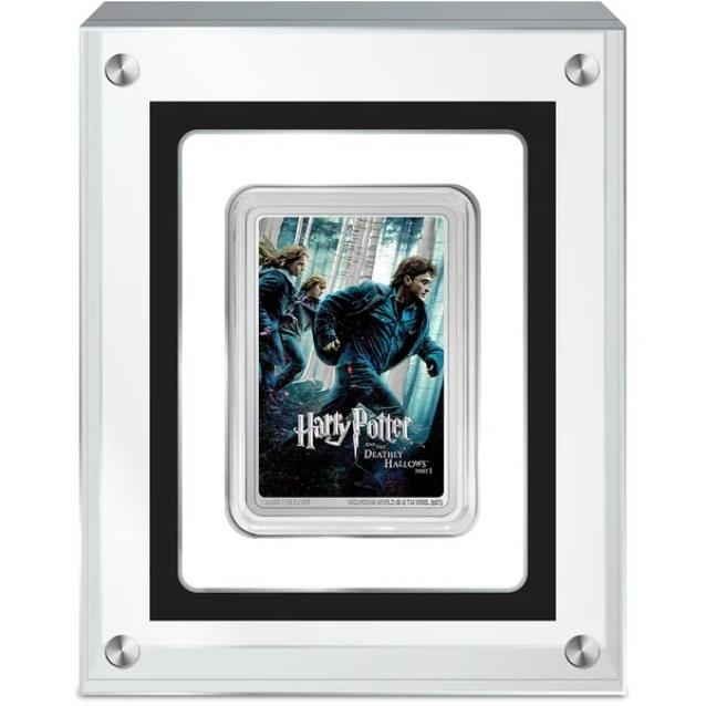 Ниуэ монета 2 доллара Гарри Поттер и Дары смерти, подарочная упаковка