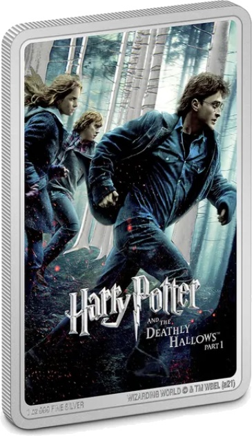 Ниуэ монета 2 доллара Гарри Поттер и Дары смерти, реверс