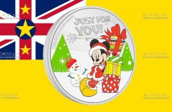 Ниуэ монета 2 доллара Поздравления с Диснеевским сезоном